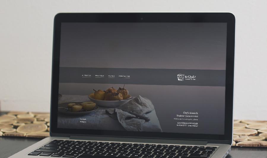 Site de Toqué comme un chef réalisé par Noctaupüs! graphiste freelance Lille